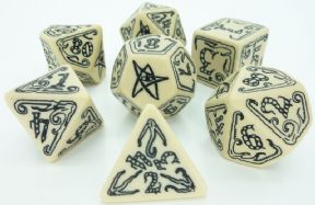 Call of Cthulhu Beige & Black Dice Set
